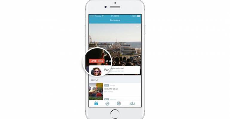 Periscope lancia i video a 360 gradi per tutti