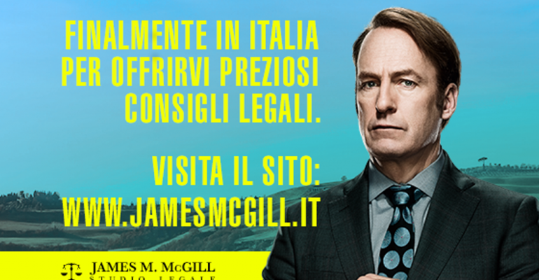 Better Call Saul, finalmente in Italia lo studio legale di James McGill