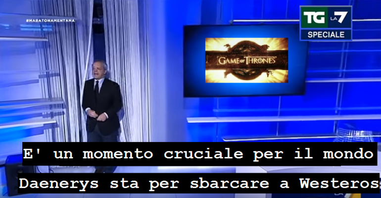 Se la Maratona di Mentana commentasse Game of Thrones