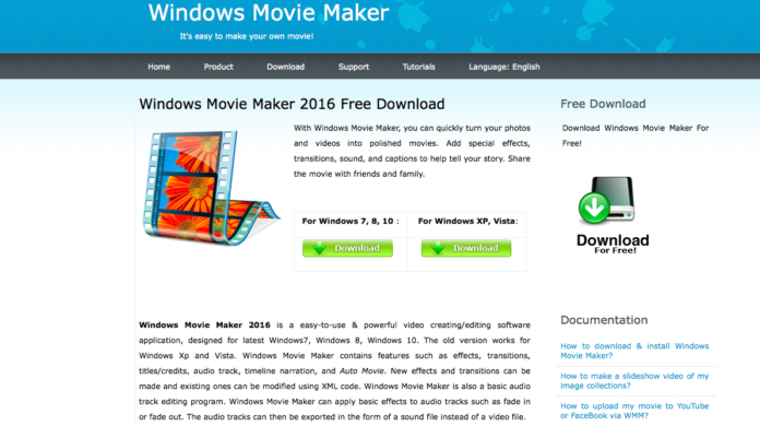 Windows Movie Maker, il programma fake è una truffa